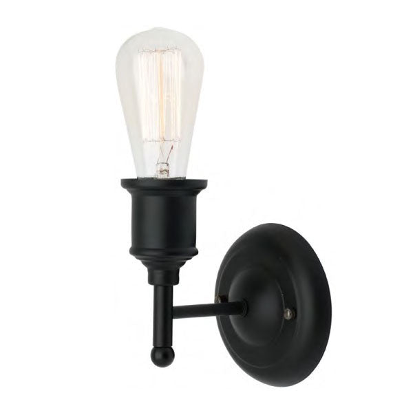 Mercator Black Leona Interior Wall Light - Lighting Lighting Lighting
