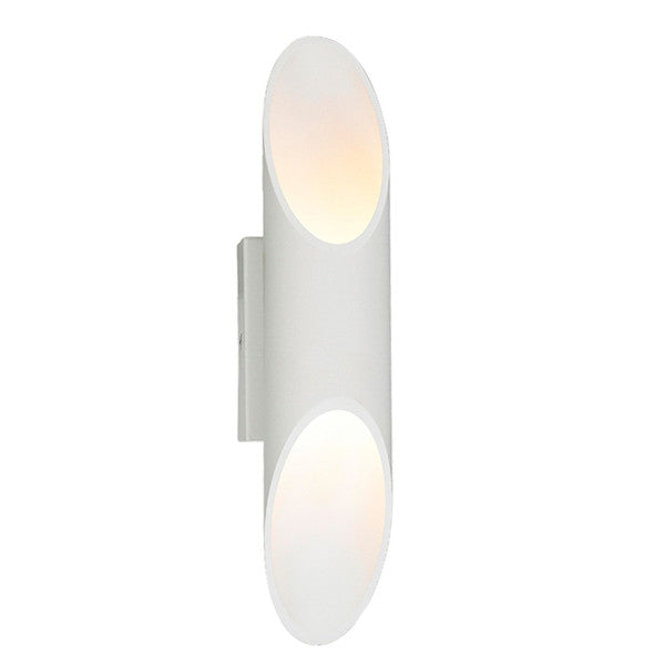 CLA White LED Up Down Interior Tube Milan Wall Light - Lighting Lighting Lighting