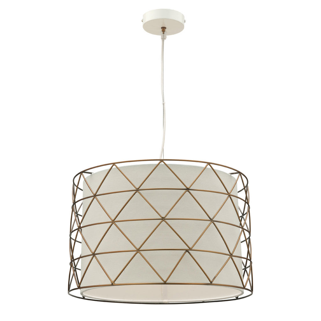 Mercator 1 Light Aged Brass Cage Drum Pendant - Lighting Lighting Lighting