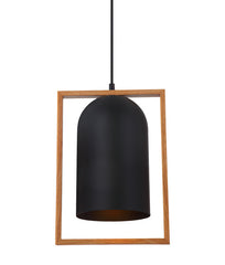 CLA Black Rectangle Timber Swing Pendant - Lighting Lighting Lighting