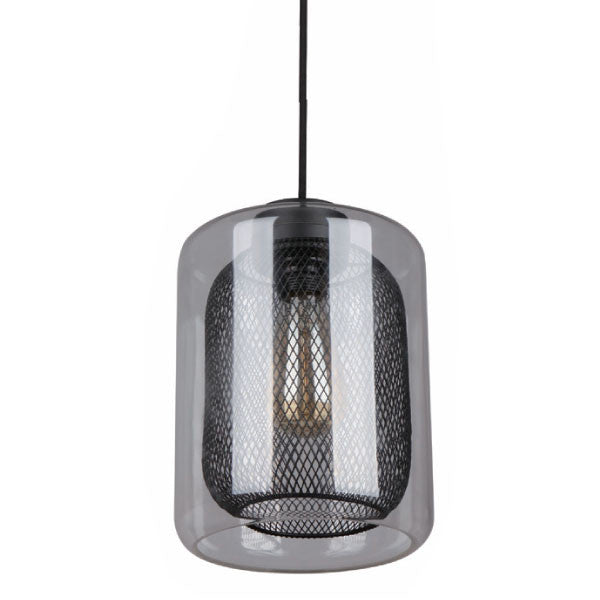 CLA Glass Black Mesh Pendant - Lighting Lighting Lighting