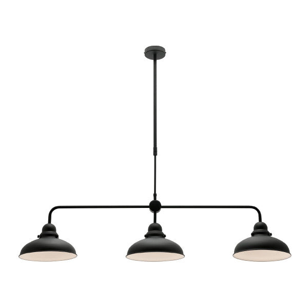 Mercator Black Verona 3 Light Billiard Light - Lighting Lighting Lighting