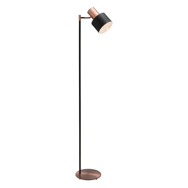 Mercator Benjamin Black and Copper Floor Lamp - Lighting Lighting Lighting
