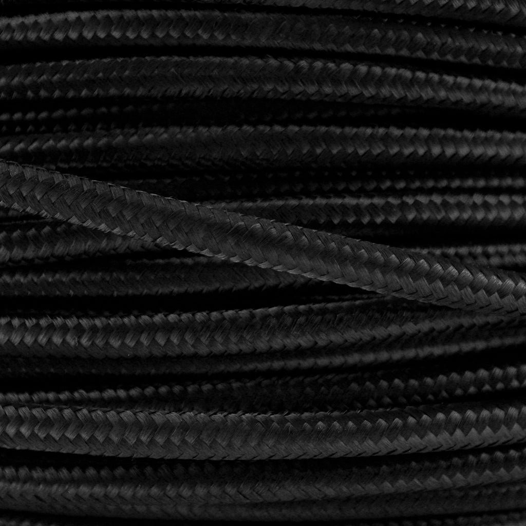 Black Fabric Cord Cloth Flex 1 Metre - Lighting Lighting Lighting