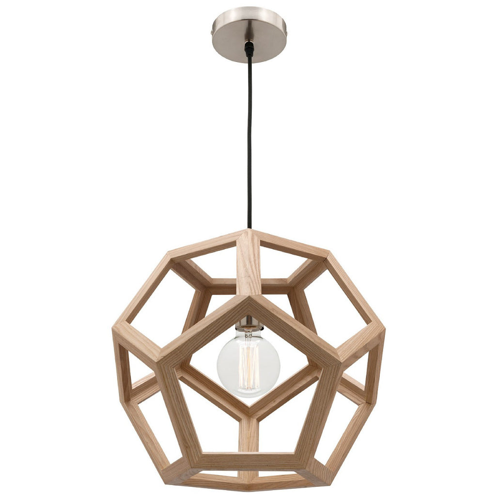 Mercator Timber Geometric Shape Peeta Pendant - Lighting Lighting Lighting