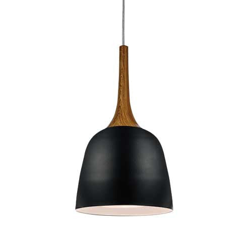 Telbix Black Timber Polk Pendant - Lighting Lighting Lighting