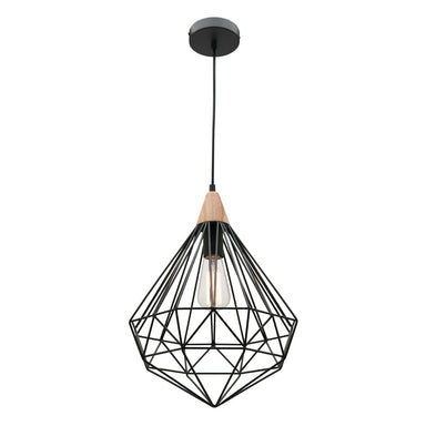 Cougar Black Geometric Raglan Pendant - Lighting Lighting Lighting