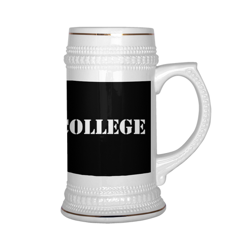 Clearly College Beer Stein