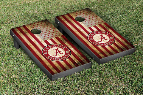 Alabama Crimson Tide Cornhole Set- Vintage Flag Version