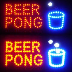 Beer Pong Flashing LED Sign