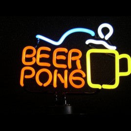 Beer Pong Neon Sculpture