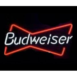 Budweiser Bowtie Neon Bar Sign