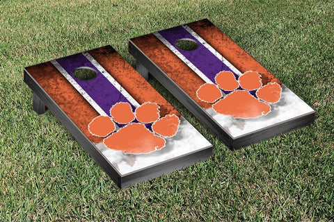 Clemson Tigers Cornhole Set- Vintage Version
