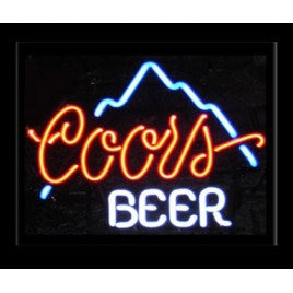 Coors Beer Neon Bar Sign