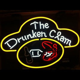 Drunken Clam Neon Bar Sign