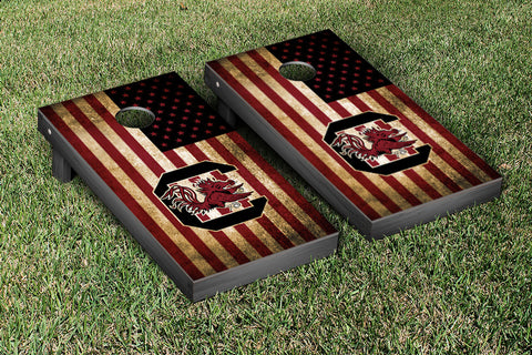 South Carolina Gamecocks Cornhole Set- Vintage Flag Version
