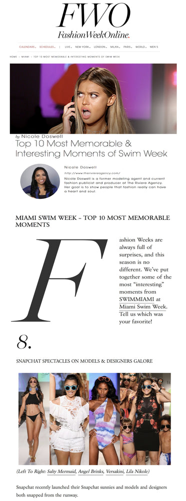 Miami Top 10 Most Memorable & Interesting Moments of Swim Week