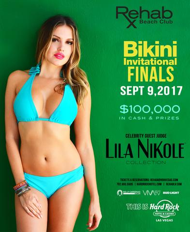 Lila Nikole Guest Judge at Rehab Las Vegas Pool Party