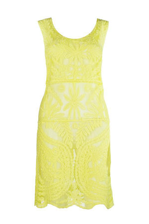 Load image into Gallery viewer, Yellow Crochet Dress - Lila Nikole