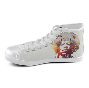 Load image into Gallery viewer, Jimi Hendrix Custom Sneakers- White - Lila Nikole