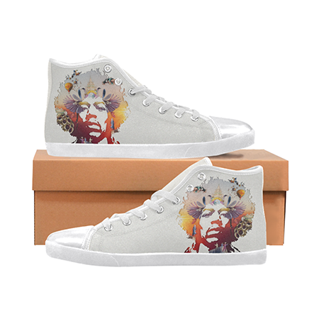 Jimi Hendrix Custom Sneakers- White