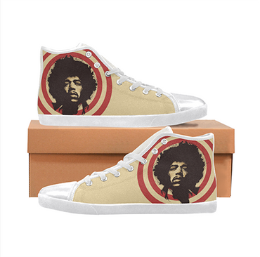 Jimi Hendrix Custom Sneakers- Tan
