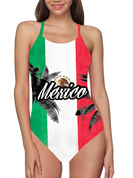 Mexico Flag Bathing Suit