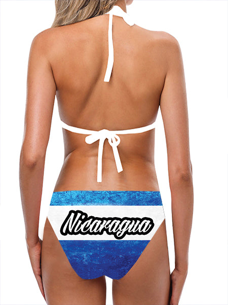 Load image into Gallery viewer, Nicaragua Flag Bathing Suit - Lila Nikole