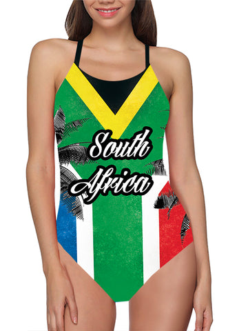 South Africa Flag Bathing Suit