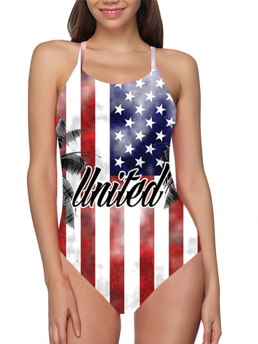 USA Flag Bathing Suit