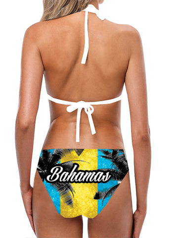 Bahamas Flag Bathing Suit