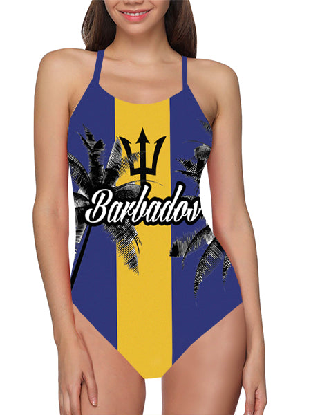 Load image into Gallery viewer, Barbados Flag Bathing Suit - Lila Nikole