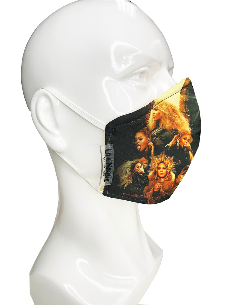 Beyonce Collage Face Mask - Lila Nikole