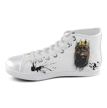 Biggie Smalls Custom Sneakers- White