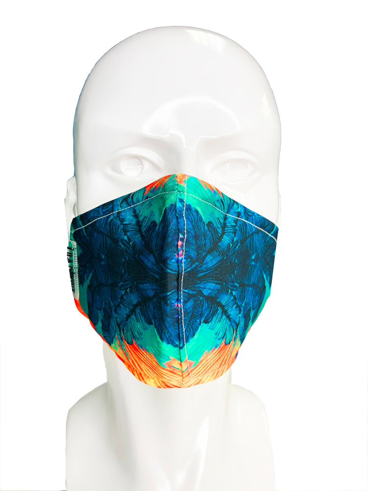 Load image into Gallery viewer, Blue Palms Face Mask - Lila Nikole