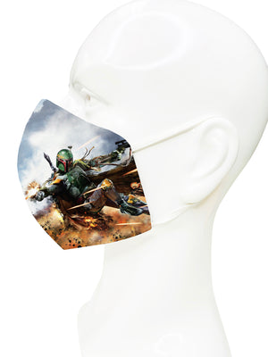 Load image into Gallery viewer, Boba Fett Face Mask - Lila Nikole