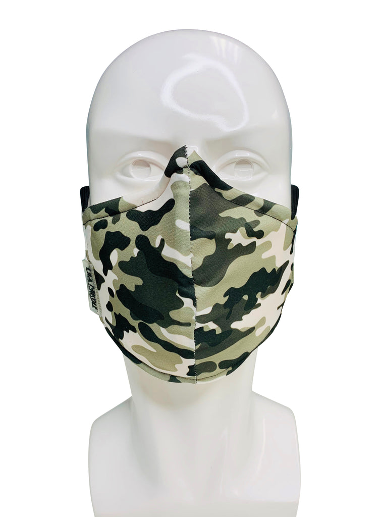 Gray Camouflage Face Mask