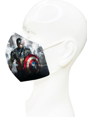 Load image into Gallery viewer, Captain America Face Mask - Lila Nikole