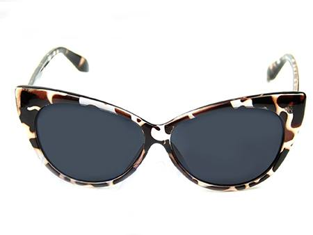 70's Cat Eye Glasses Leopard