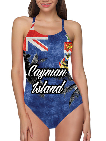 Cayman Islands Flag Bathing Suit