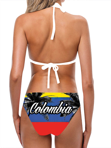 Load image into Gallery viewer, Colombia Flag Bathing Suit - Lila Nikole