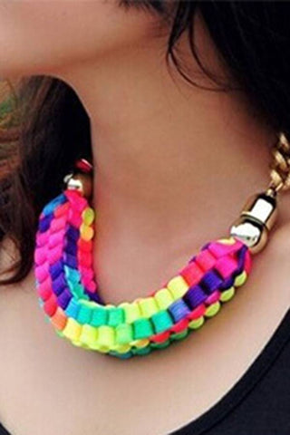 Cube Braid Necklace