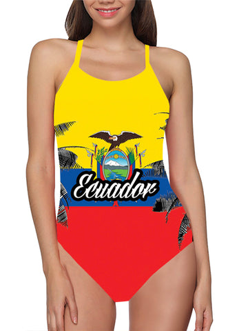 Ecuador Flag Bathing Suit