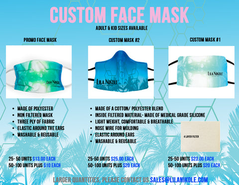 Custom Artwork Face Mask Promo