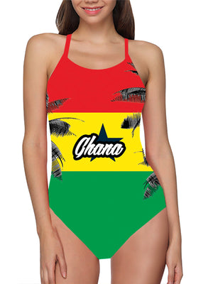Load image into Gallery viewer, Ghana Flag Bathing Suit - Lila Nikole