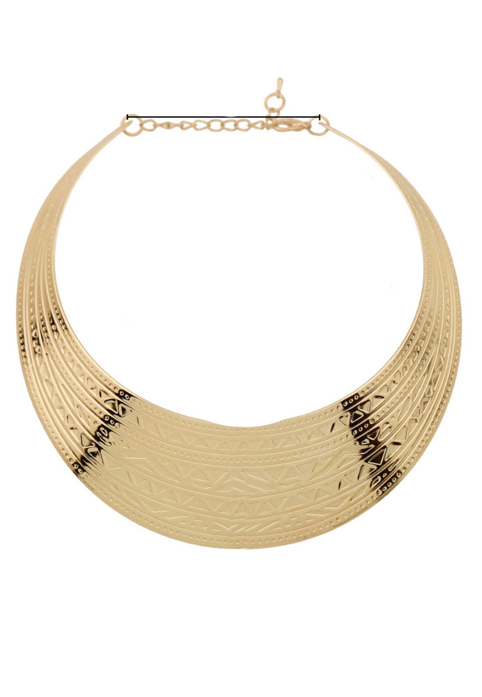 Metal Choker Necklace - Lila Nikole