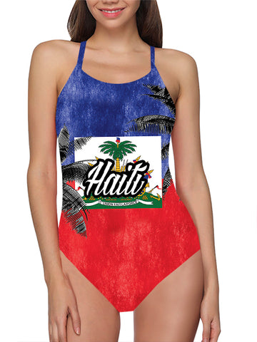 Haiti Flag Bathing Suit