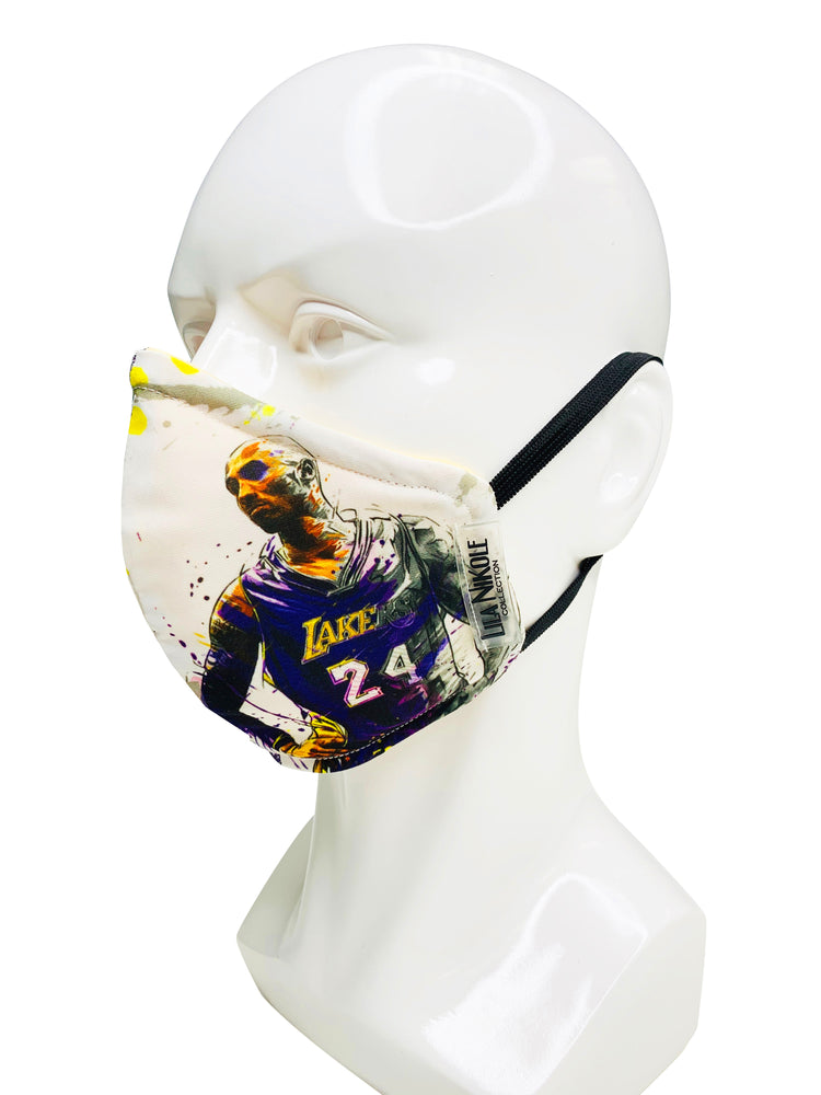 Load image into Gallery viewer, Kobe Bryant Custom Face Mask - Lila Nikole