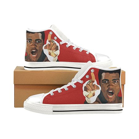 Load image into Gallery viewer, Muhammed Ali Custom Sneakers- Red - Lila Nikole