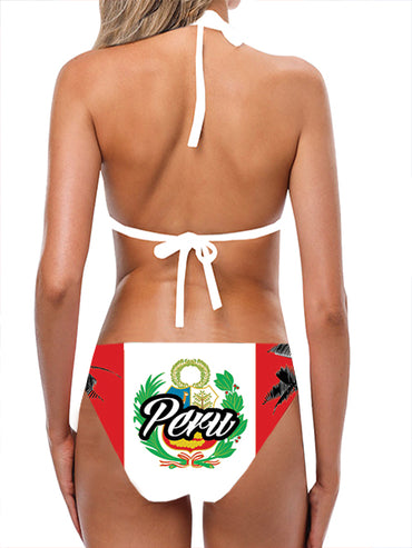 Peru Flag Bathing Suit